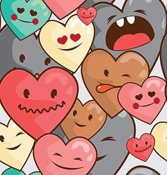 big hearts seamless vector image vector image