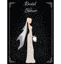 Bridal shower card vector
