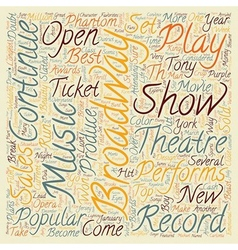 Broadway Set for Record Year in text background vector image