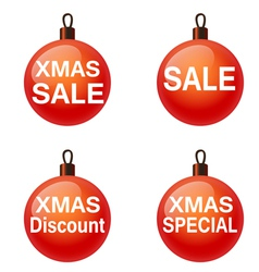 Christmas sale Set of balls Weihnachtskugel vector image