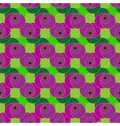 Colorful flower on four symmetric circle seamless vector image vector image