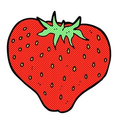 Comic cartoon strawberry vector