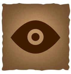 Eye sign vintage effect vector