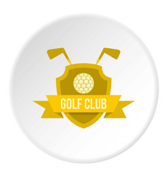 Golf club icon circle vector
