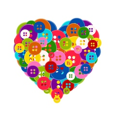 heart made buttons vector image vector image