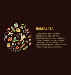 Herbal tea ticket vector
