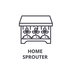 Home sprouter line icon outline sign linear vector