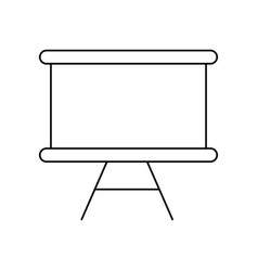 isolated blackboard design vector image
