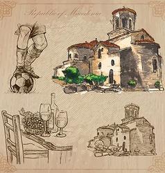 Macedonia Hand drawn pack vector image