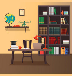 Modern home office vector