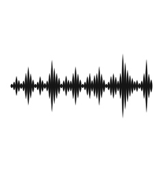 Music sound waves icon simple style vector image