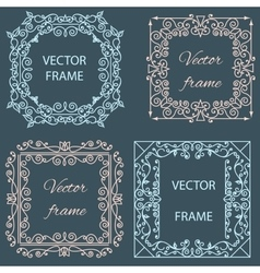 Ornamental floral frame linear style vector image vector image