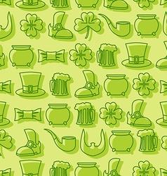 Patricks day seamless pattern Background for Irish vector image