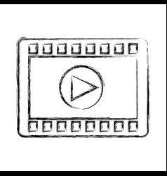Play button recorder icon vector