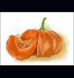 Pumpkin painted colors vector