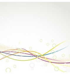 Rainbow colorful abstract wave line swooshes vector image vector image