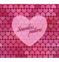 Seamless pattern with hearts vector image vector image