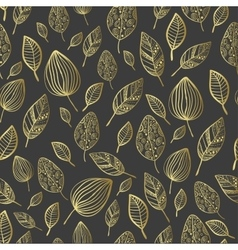 Seamless stylized leaf patternTexture with leaves vector image