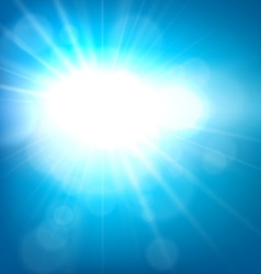 Summer view blurry blue sky background vector