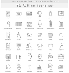 office ultra modern outline line icons for vector image