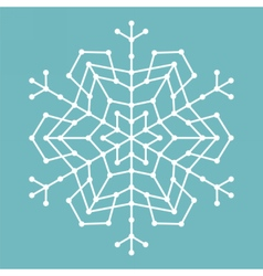 Geometric snowflake with lines and circles vector