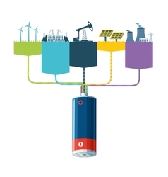 Energy resources information design with power vector