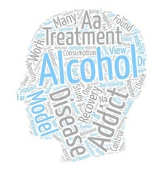 Is alcoholism a disease text background wordcloud vector