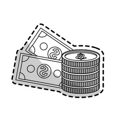 Cash money icon image vector