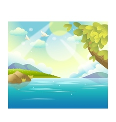 Water landscape vector