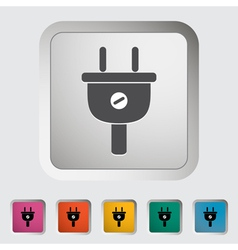 Electrical plug vector