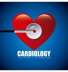 Cardiology icon vector