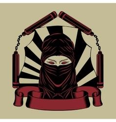 Ninja head vector