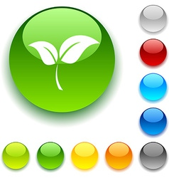 Ecology button vector
