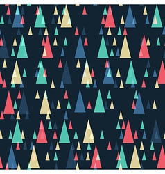 retro triangles pattern vector image
