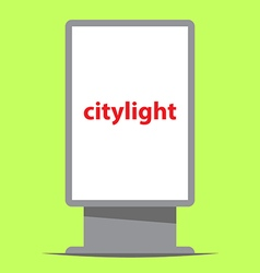 Citylight outdoor advertising vector