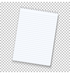 Photorealistic notepad isolated on vector