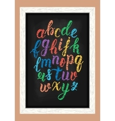 Chalk colorful hand drawn latin calligraphy brush vector image