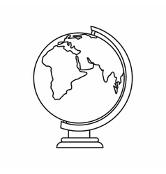 Globe icon outline style vector