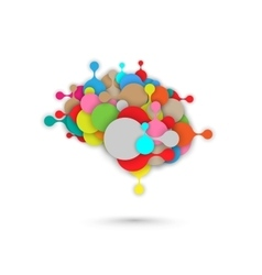 Abstract brain metaball graphic vector image