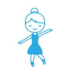 ballet ballerina icon vector image