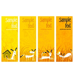 banners with dogs vector image