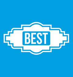 best label icon white vector image
