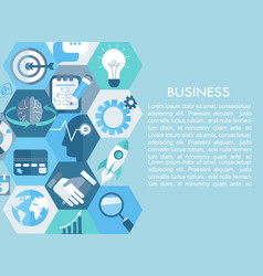 Business concept with flat icons vector