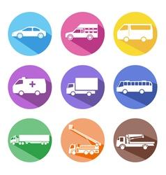 Car icon set vector