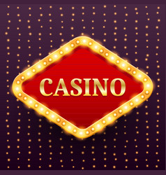 casino luxury retro banner template vector image