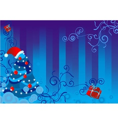 christmas backdrop vector image vector image