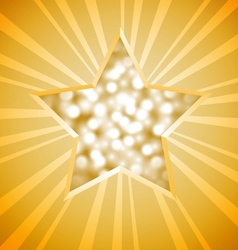 Christmas star card vector image