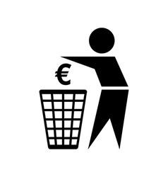 Do not waste money icon vector