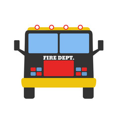 Fire car fire departament equipment icons vector