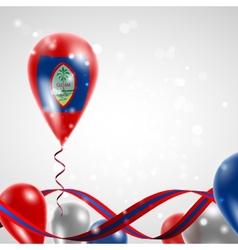 Flag of guam on balloon vector